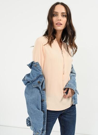 Fermuar Detaylı Gömlek-People By Fabrika